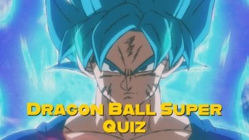 dragon ball super quiz
