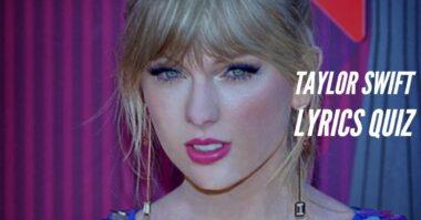 taylor swift lyrics quiz