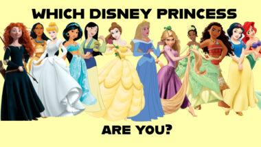 which disney princess are you quiz